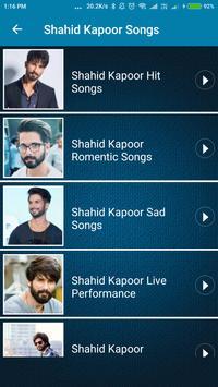Shahid Kapoor Hit Songs screenshot 2
