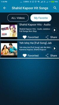 Shahid Kapoor Hit Songs screenshot 4