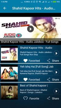 Shahid Kapoor Hit Songs screenshot 5