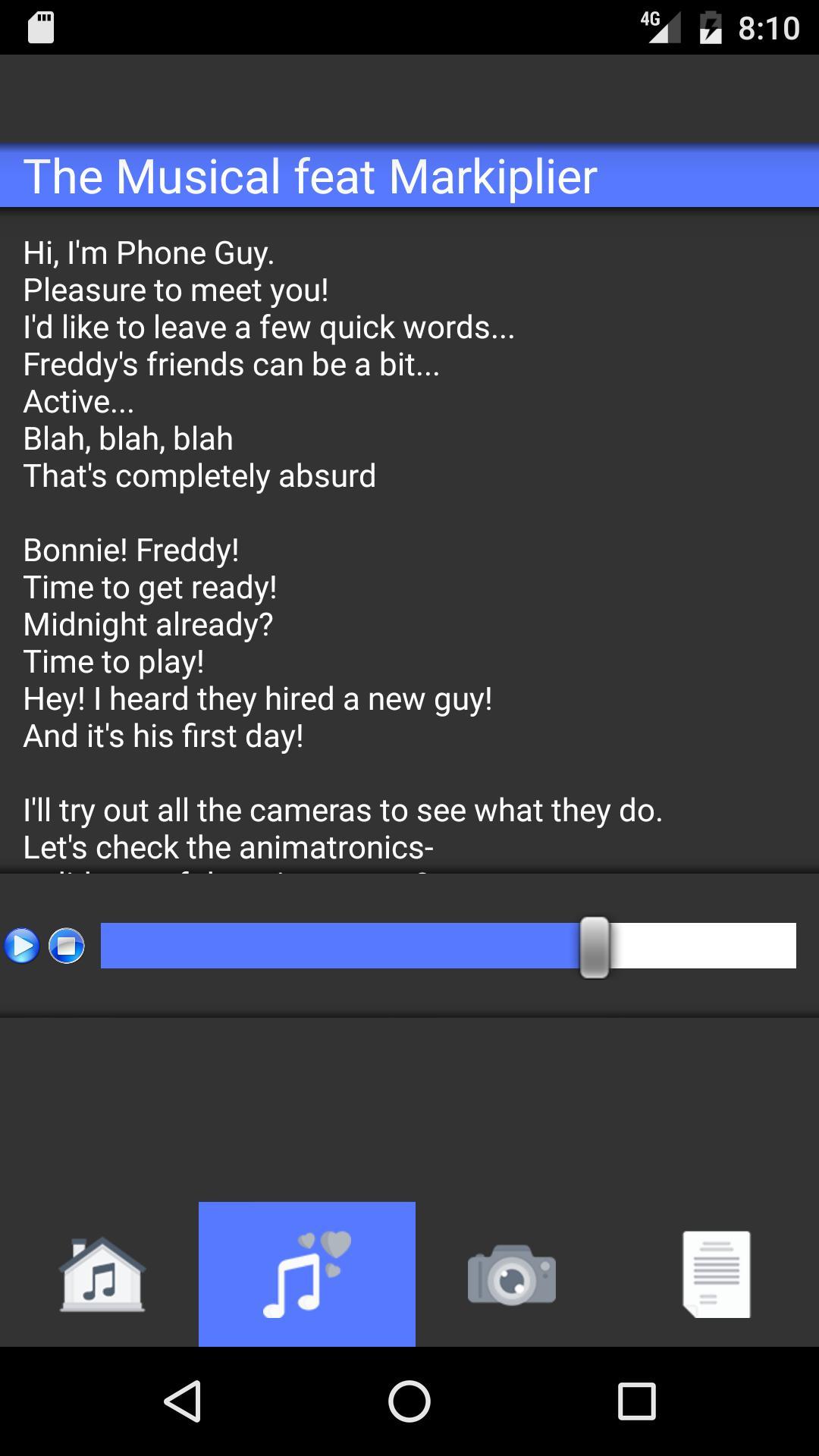 FNAF 1234 songs lyrics cho Android - Tải về APK