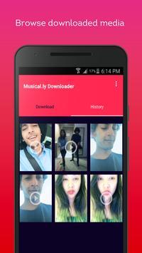Video downloader for musically and tik tok screenshot 1