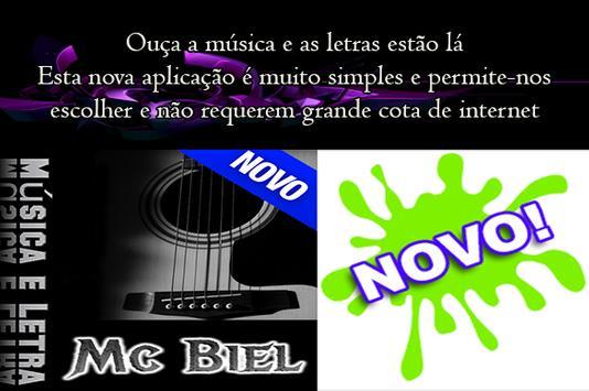 ê Lêtras Mc Biel Música poster