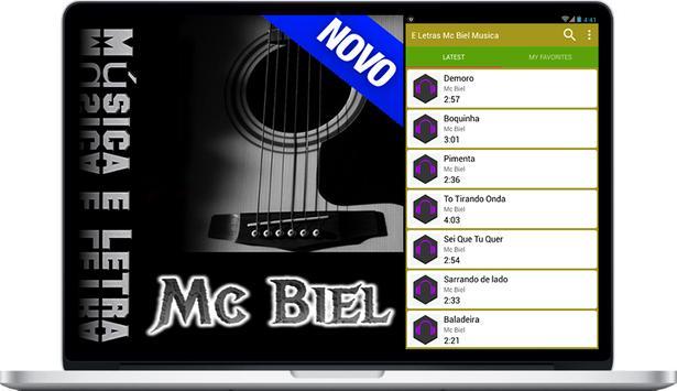 ê Lêtras Mc Biel Música screenshot 1