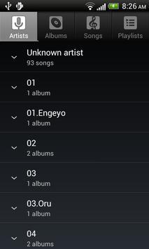 Default Music Player screenshot 1