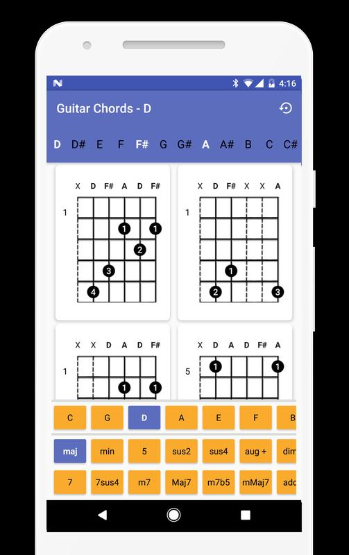 Guitar Chords Finder No Ads Apk Download Free Music Audio App
