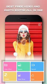 Magic Video Editor Cut Music & Square Pic Collage poster