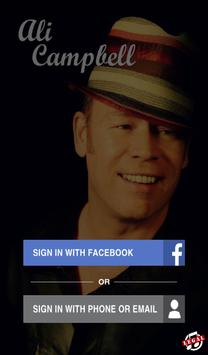 Ali Campbell Official poster
