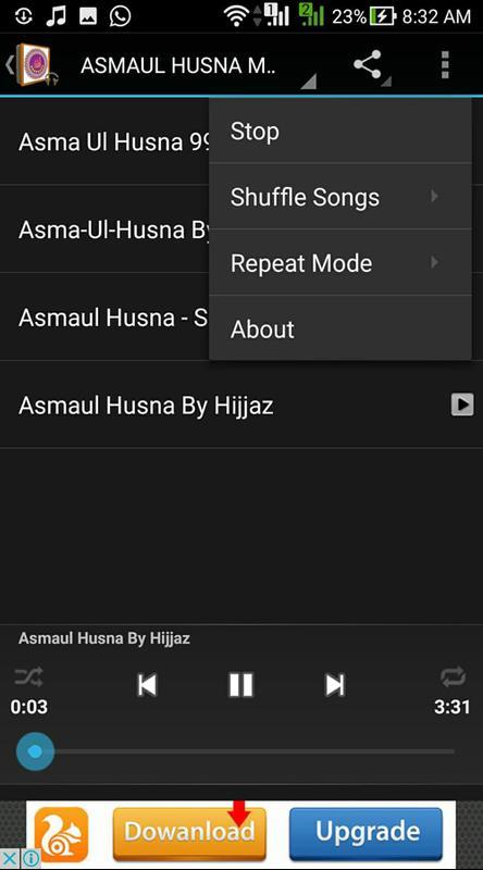 99 Asmaul Husna MP3 Audio Poster