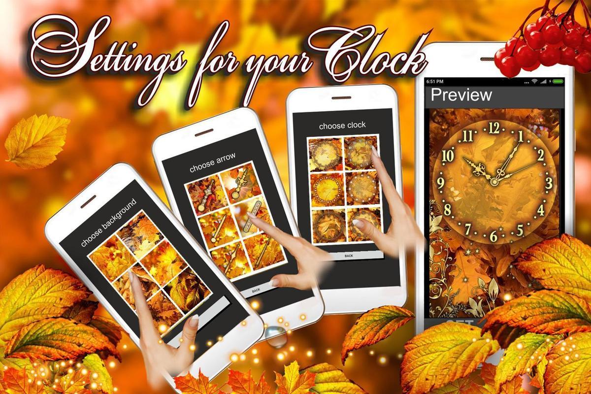 Autumn Clock HD Live Wallpaper Screenshot 2