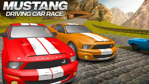 Mustang Driving Car Race постер