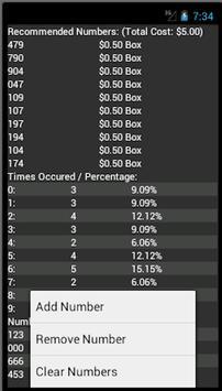 Lottery Calculator apk screenshot