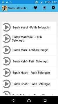 Murottal Fatih Seferagic apk screenshot