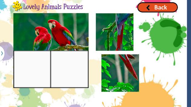 Cute Animals Puzzles for Kids screenshot 3