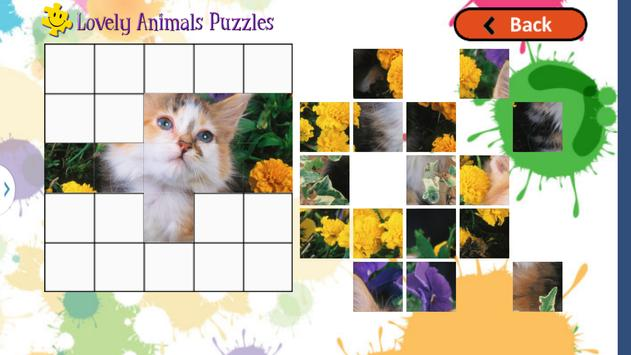 Cute Animals Puzzles for Kids screenshot 18