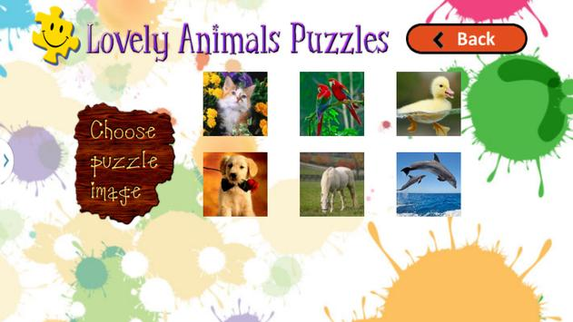 Cute Animals Puzzles for Kids screenshot 1