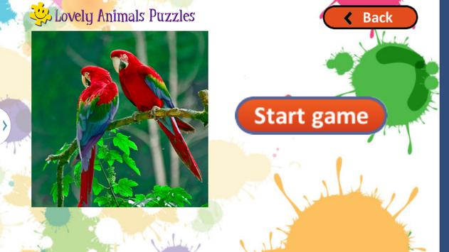 Cute Animals Puzzles for Kids screenshot 2