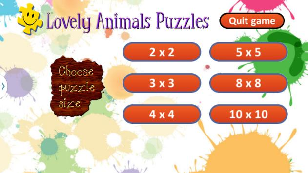 Cute Animals Puzzles for Kids screenshot 7