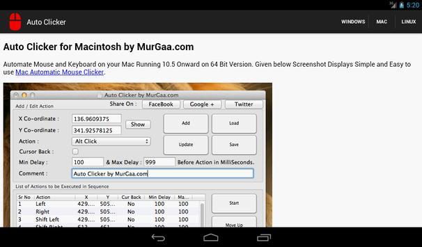 auto clicker apk screenshot