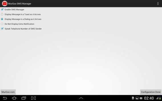 Auto SMS Voice Alert screenshot 1