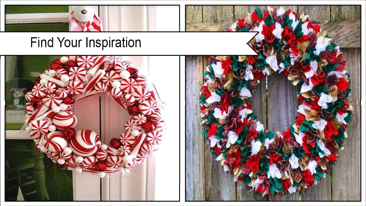 Cool Peppermint Wreath poster
