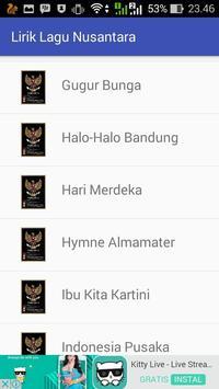Lirik Lagu Wajib Nasional screenshot 1