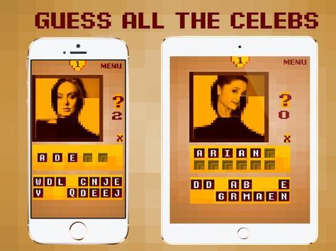 Top Celebrity Guess - Pixel Quiz Game 2018 screenshot 3