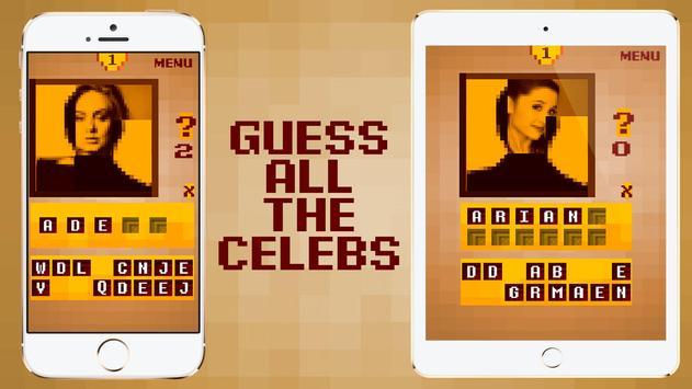 Top Celebrity Guess - Pixel Quiz Game 2018 screenshot 1