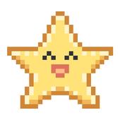 Falling Pixel Star icon