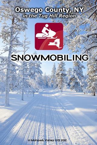 Snowmobiling Oswego County poster