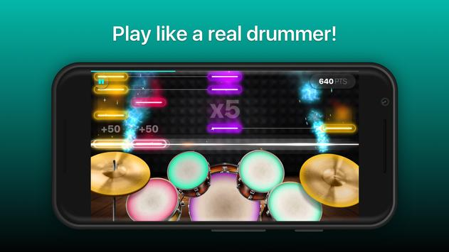 Drums - リアルなドラムセット・ゲーム ポスター