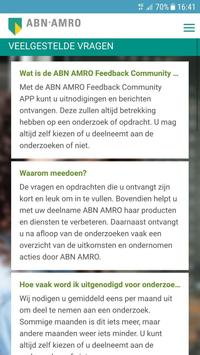 ABN AMRO Feedback Community APP apk screenshot