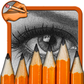 How to draw a Realistic Eyes icon