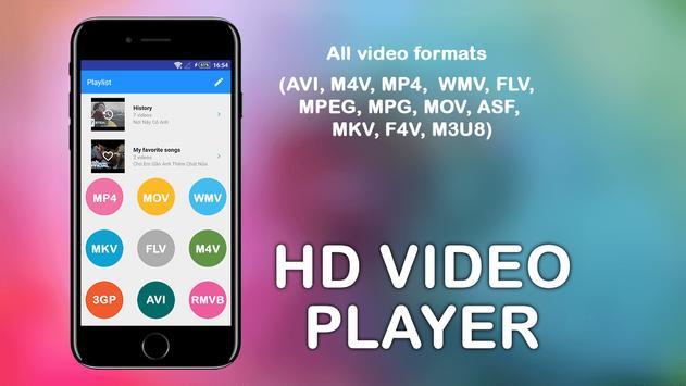 MP4-AVI-3GP HD Video player screenshot 1
