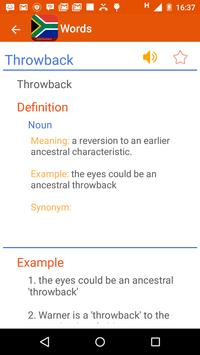 Afrikaans Dictionary apk screenshot