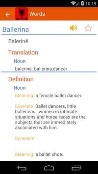 Albanian Dictionary apk screenshot