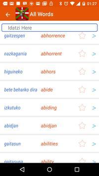 Basque Dictionary apk screenshot