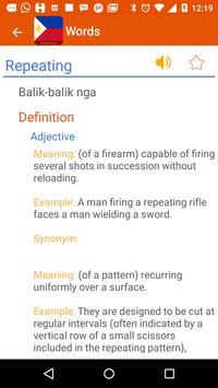 Cebuano Dictionary apk screenshot