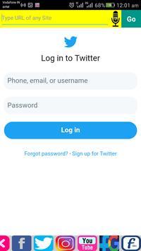 Social Mini Browser with Dual Screen by 7StarMedia screenshot 4