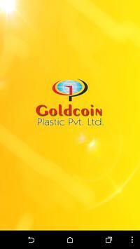 Goldcoin Plastic poster