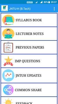 JNTU Study Material & Syllabus Book (B.Tech) poster