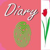 My Diary white Fingerprint 2018 icon