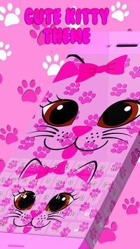 Cute Kitty Keyboard Theme poster