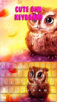 Cute Owl Keyboard Theme apk screenshot