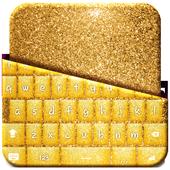Gold Glitter Keyboard Theme icon