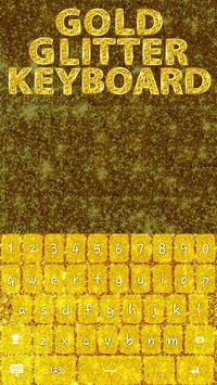 Gold Glitter Keyboard Theme poster
