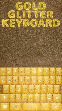 Gold Glitter Keyboard Theme apk screenshot