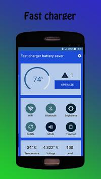 Fast charger - battery saver poster
