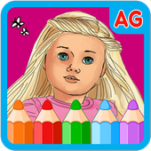 American Coloring Book Girls icon