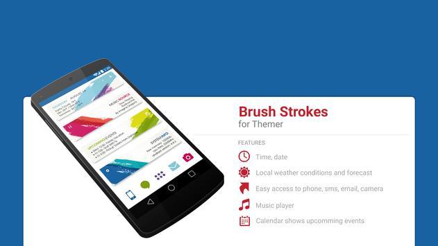 Brush Strokes Theme poster