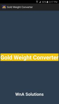 Gold Price Conversion Poster